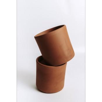 Maceta cilindro terracota -...